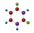 Molecule of uracil Royalty Free Stock Image