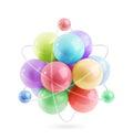 Molecule vector icon Royalty Free Stock Photo