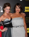 Molly Burnett, Crystal Chappell arrives at the 2012 Daytime Emmy Awards Stock Photography