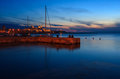 Molo audace trieste view of in italy Royalty Free Stock Photos