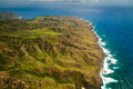 Molokai island coastline Royalty Free Stock Images