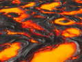 Molten lava or magma from volcano Stock Photography