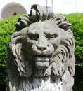 Molto immagine del primo piano della statua capa di un leone Fotografia Stock