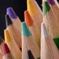 Molto vicino sull immagine delle matite colorate Immagine Stock Libera da Diritti