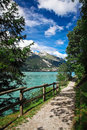 Molveno lake Stock Image