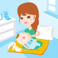 Mom breast feeding baby Royalty Free Stock Photo