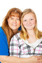 Mom and Daughter Portrait Stock Images
