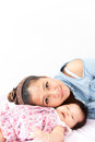 Mom is enjoying with her baby Royalty Free Stock Images