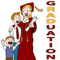 Mom Graduation Day Royalty Free Stock Photo