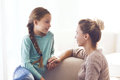 Mom with pre teen daughter Royalty Free Stock Photo