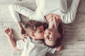 Mom and son Royalty Free Stock Photo