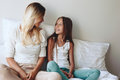 Mom with tween daughter Royalty Free Stock Photo
