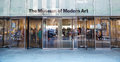 Moma entrance in new york city usa the of museum of modern art from outside it is often identified as the most influential museum Stock Photo