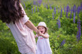 Moments of parenthood happy woman Stock Photography