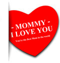Mommy i love you a mother s day greeting with the text re the best mom in the world Royalty Free Stock Photography