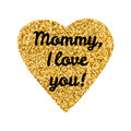Mommy,I love you Royalty Free Stock Photo