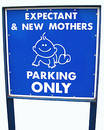 Moms only parking sign Stock Photos
