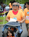 Moms run k run runners participate in the on daniel island charleston sc Royalty Free Stock Photos