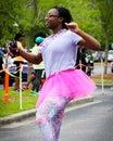 Moms run k run runners participate in the on daniel island charleston sc Stock Image