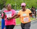 Moms run k run runners participate in the on daniel island charleston sc Stock Photos