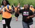 Moms run k run runners participate in the on daniel island charleston sc Royalty Free Stock Photo