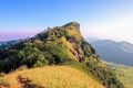Mon jong lion head mountain chiangmai thailand the top of the shape looks like Royalty Free Stock Photo