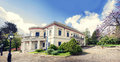 Mon repo the house of king in in corfu island in greece Royalty Free Stock Photos