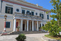 Mon repo palace at corfu island in greece Stock Photos
