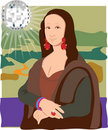 Mona Lisa Disco Lady Stock Images