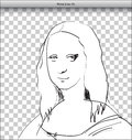 Mona Lisa Sketch in DTP