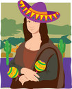 Mona Lisa Sombrero Royalty Free Stock Photography