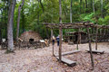 Monacan Indian Settlement Exhibit - Natural Bridge State Park, Virginia, USA