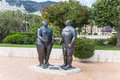Monaco adam and eve sculpture by botero on the casino terraces in monte carlo Stock Image
