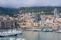 Monaco on a cloudy day Royalty Free Stock Images