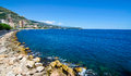Monaco coastline mediterranean in beautiful sea shore Royalty Free Stock Image