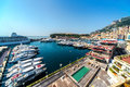 Monaco harbor panoramic view of Royalty Free Stock Images