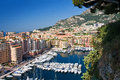 Monaco la condamine with luxury yachts Royalty Free Stock Photography