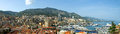 Monaco monte carlo panorama harbour and viewed from the palace square Royalty Free Stock Photo
