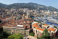 Monaco monte carlo panorama may harbour and panoramic viewed from the palace square on may in Royalty Free Stock Photography