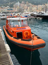 Monaco police motorboat monte carlo may inflatable in the port on may in monte carlo Royalty Free Stock Image