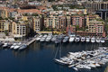 Monaco - Port of Fontvieille Stock Photos