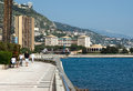 Monaco promenade monte carlo may larvotto on may in monte carlo larvotto is a part of the district of monte carlo in the Royalty Free Stock Photo