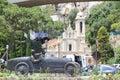 Monaco view of the city church saint devote Stock Images