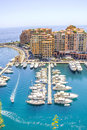 Monaco and yachts in the port Stock Photo