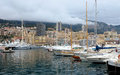 Monaco yachts in the port hercules monte carlo fashionable and view on city Stock Photography