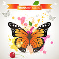Monarch butterfly over bright background Stock Images