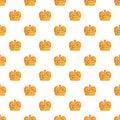 Monarch crown pattern seamless