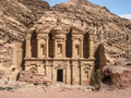The monastery or Ad Deir at Petra. Jordan Stock Photography