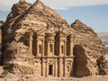 The monastery or Ad Deir at Petra. Jordan Stock Photos
