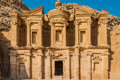 The monastery al deir in nabatean city of petra jordan middle east Stock Images